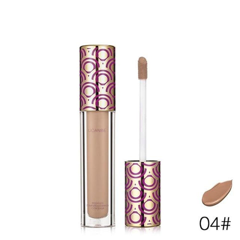 UCANBE Brand 4 Colors Liquid Concealer Makeup Waterproof Cover Face Flaws Lightweight Concealer Cream Brighten Contour Cosmetics