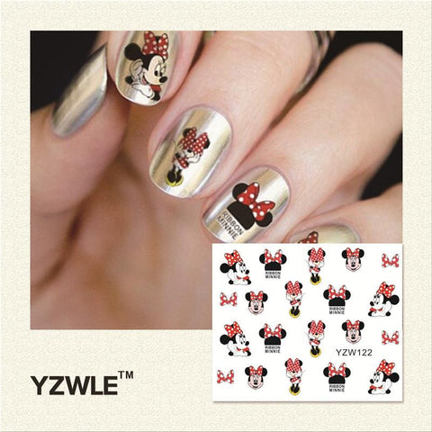 WUF 2019 New Hot Sale Water Transfer Nails Art Sticker Manicure Decor Tool Cover Nail Wrap Decal (YZW122)