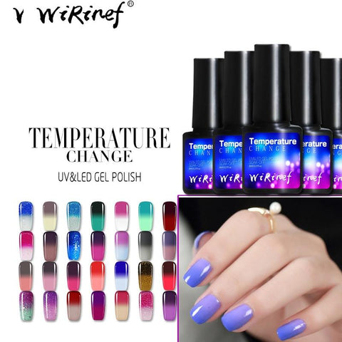 WiRinef Thermo Chameleon Gel Nail Polish Hot Sale Temperature Change Color Gel Varnish UV Gel Nail Varnish Lacquer