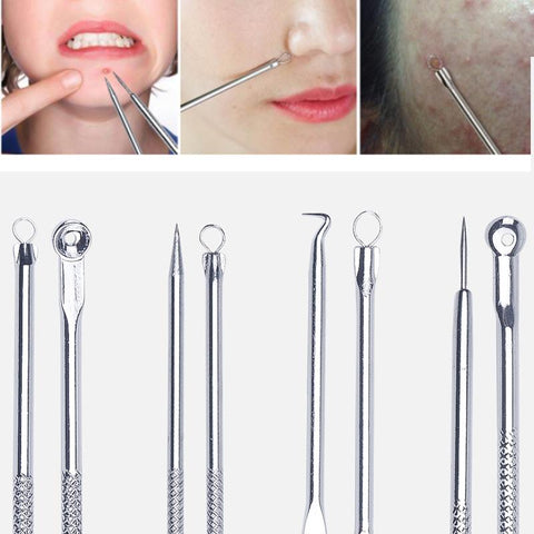 foreverlily Acne Blackhead Removal Needles Stainless Pimple Spot Comedone Extractor Cleanser Beauty Face Clean Care Tools