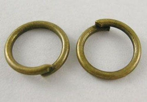 Jump Rings Jumprings Split Rings Single Loop 6mm Jump Rings Bronze Jump Rings Findings Antiqued Bronze 100pcs