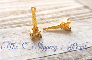 Eiffel Tower Charms Eiffel Tower Pendant Gold Eiffel Towers Paris Charms France Charms Paris Pendants Gold Charms 24mm 10 pieces