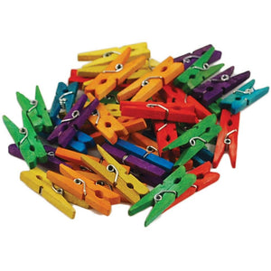 Miniature Clothespins Assorted Colors Bulk 40 pieces Wood Clothespins Wholesale CLEARANCE was 3.99
