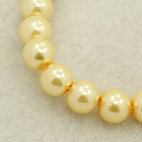 Glass Pearls Glass Beads Vintage Ivory Beads 4mm Glass Beads BULK Beads 216 pcs Wholesale Beads 32