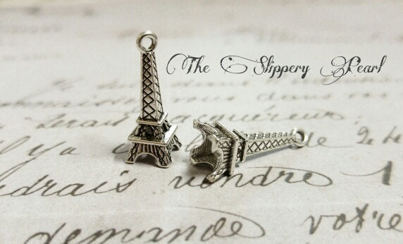 Eiffel Tower Charms Paris Charms France Charms Silver Eiffel Tower BULK Charms Wholesale Charms Set Europe Charms 100 pieces