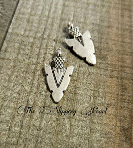 Arrowhead Pendants Charms Antiqued Silver Arrowhead Charms Western Charms Arrowhead Charms 10 pieces