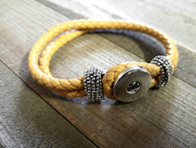 Load image into Gallery viewer, Leather Bracelet Blank Blank Bracelet Chunk Bracelet Snap Bracelet Chunk Blank Chunk Jewelry Golden Tan Leather Bracelet