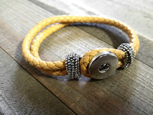 Leather Bracelet Blank Blank Bracelet Chunk Bracelet Snap Bracelet Chunk Blank Chunk Jewelry Golden Tan Leather Bracelet