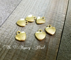 Heart Charms Gold Heart Charms Bulk Charms Gold Charms Wholesale Charms 10pcs Heart Pendants Valentines Day Love Charms