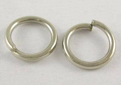 12mm Open Jump Rings Antiqued Silver Thick Split Ring Findings Sold pkg of 25
