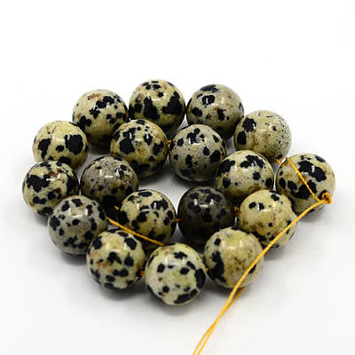 Dalmatian Jasper Beads 8mm Beads Gemstone Beads Authentic Gemstones 8mm Gemstone Beads Speckled Beads Full Strand