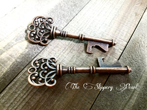 Key Bottle Opener Skeleton Key Copper Keys Copper Skeleton Keys Wedding Favor Bottle Opener Keys Big Skeleton Key 3 Inch Keys 10 pieces