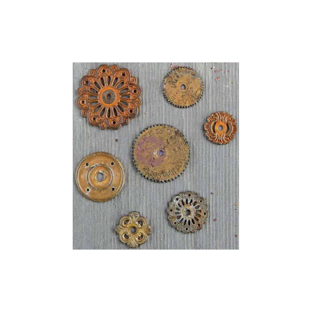 Clock Gears Clock Parts Clock Mechanism Brass Gears Rusty Metal Gears Steampunk Gears Assorted Gears Washers 7 pieces