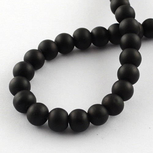 Black Beads Rubberized Glass Beads 10mm Round Glass Beads Wholesale Beads Matte Black Beads 10mm Beads 80 pieces