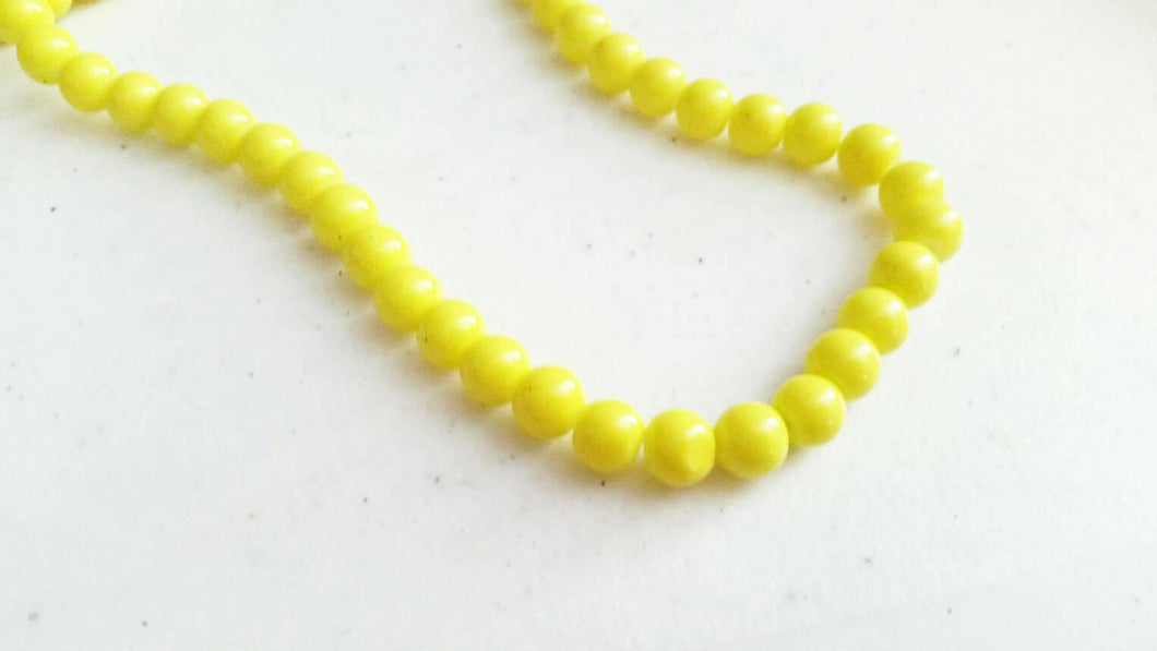 BULK Beads Yellow Glass Beads Wholesale Beads 100 pieces 8mm 32