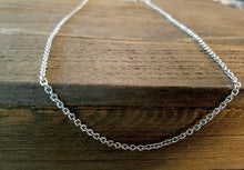 Load image into Gallery viewer, Finished Chain Necklace Wholesale Chain 21 Inch Chain Necklace Silver Chain Necklace Cable Chain Necklace Chain Silver Necklace