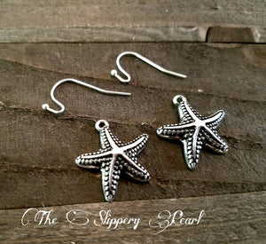Starfish Charms Earring Kit Silver Starfish Charms Starfish Pendants DIY Earrings Simple Earrings Beginner Jewelry Making DIY Kit