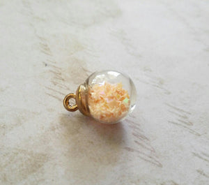 Glass Ball Charm Glass Ball Pendant Star Charm Glass Globe Pendant Crystal Ball Charm Ivory Ball Charm Glass Charm Glass Pendant