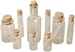 Glass Vials with Corks Glass Bottles For Necklaces Beads Assorted Styles and Sizes Apothecary Vials Potion Vials 9 Pieces