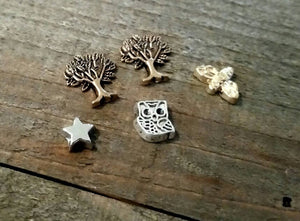 Floating Charms Locket Charms Assorted Charms Memory Locket Charms Tree Owl Bee Star