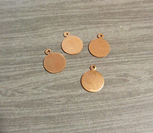 Metal Stamping Blanks Hand Stamping Blanks Circle Blanks 12mm Copper Blanks Circle Blanks Wholesale Stamping Blanks Copper Circle 10 pcs
