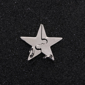 Star Pendant Star Puzzle Charm Puzzle Star Charm Friendship Charms Mother Daughter Charms Puzzle Pendants