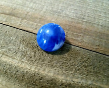Load image into Gallery viewer, Snap Chunk Button Blue Swirl Chunk Snap 18mm Chunk