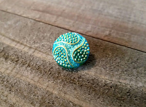 Snap Chunk Button Green Gold Sparkle Chunk Snap 18mm Chunk