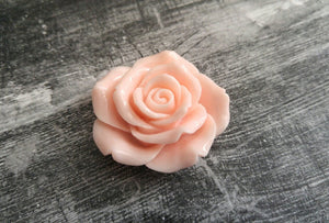 Flower Cabochon Large Flower Flat Back Vintage Pink Flower Cabochon Rose Cabochon Resin Flower 45mm