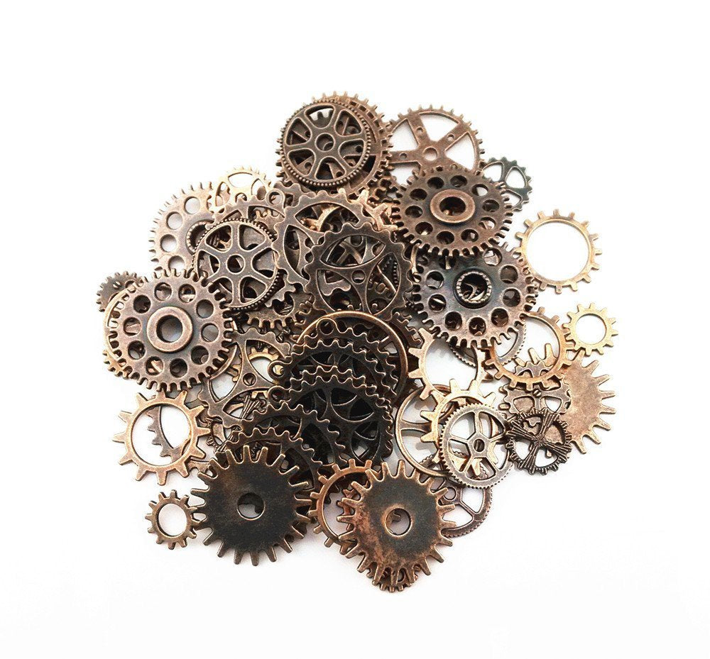 Clock Gears Clock Parts Clock Mechanism Brass Gears Copper Gears Metal Gears Steampunk Gears BULK Assorted Gears 70pcs