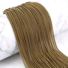 Load image into Gallery viewer, Bronze Chain BULK Chain Curb Chain Necklace Kit Bronze Curb Chain Wholesale Chain Unfinished Chain Link Chain Necklace Chain 33ft + Clasps