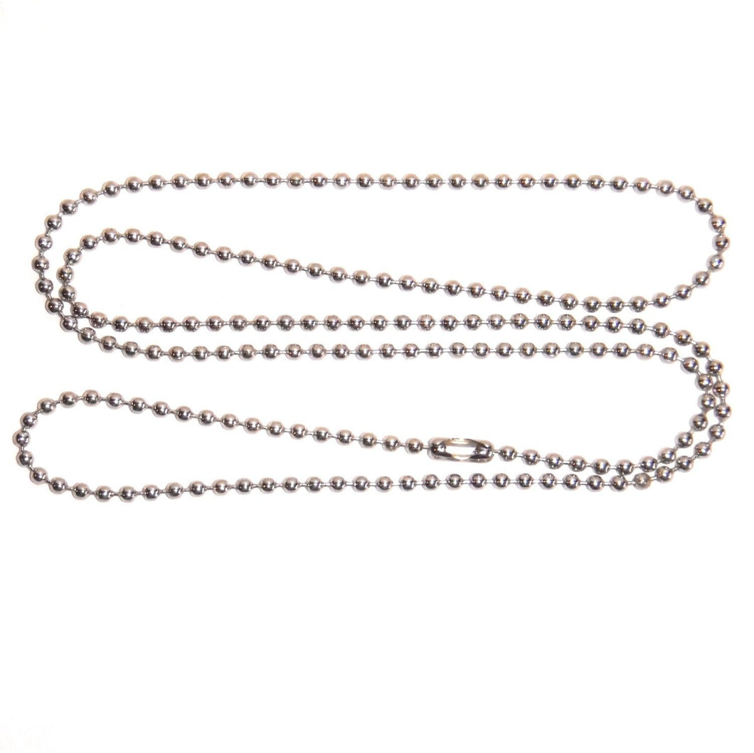 Ball Chains Silver Ball Chains Bead Chains Wholesale Chains Nickel Plated Chains 24 inch Chains BULK Chains Silver Bead Chains 50 pieces