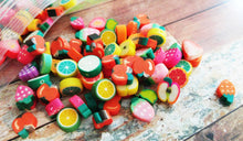 Load image into Gallery viewer, Polymer Clay Beads Assorted Beads Fruit Beads Food Beads Polymer Beads 7mm-12mm Beads 20 pieces Wholesale Beads