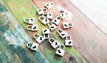 Load image into Gallery viewer, Padlock Charms Silver Lock Charms BULK Charms Keyhole Charms Steampunk Charms Heart Lock Charms Miniature Charms Wholesale Charms 100 pieces