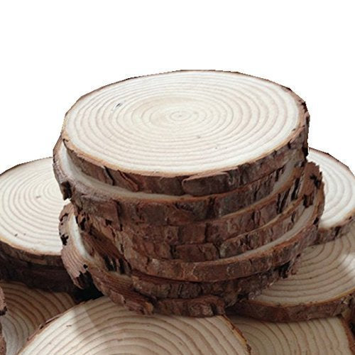 Wood Slices Round Wood Blanks Real Wood Slices Circle Wood Slices BULK Wood Burning Blank Wood Tag Blanks No Holes 50pcs 1.6