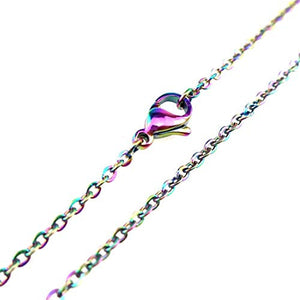 Rainbow Chains Finished Necklace Chains Rainbow Chain 18 Inch Chains Wholesale Chains Cable Chains BULK Chains 10pcs