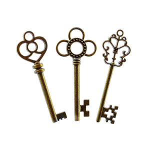 Big Key Pendants Antiqued Bronze Keys Skeleton Keys Large Keys Steampunk Keys Bronze Pendants Focal Pendants BULK Skeleton Keys 30pcs