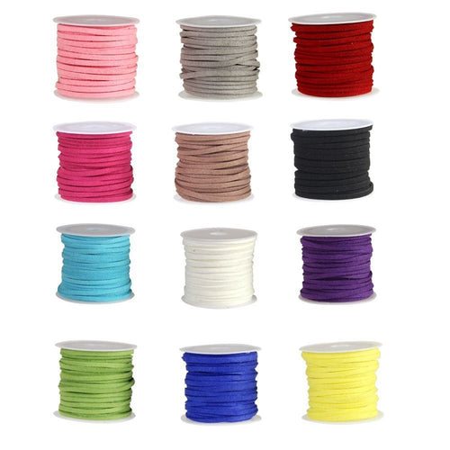Faux Suede Cord Necklace Cord Bracelet Cord BULK Cords Wholesale Cords Findings Stringing Materials Jewelry Supplies 12 colors 192 feet