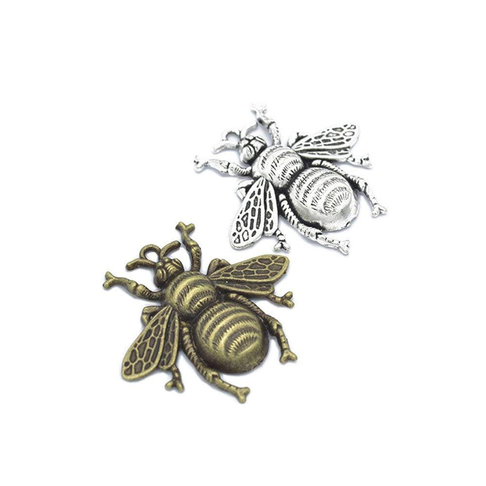 Large Bee Pendants Focal Pendants Antiqued Silver Antiqued Bronze Bee Pendants Big Pendants Large Pendants 40mm BULK 20pcs