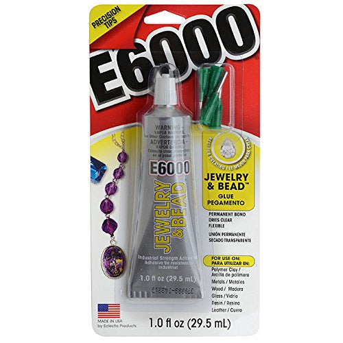 E6000 Glue Jewelry Adhesive Jewelry Glue Metal Glue with Precision Tips Waterproof Glue for Rings Pendants and More