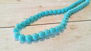 "BULK Beads Light Blue Beads Glass Beads 8mm Beads 8mm Glass Beads Wholesale Beads 100 pieces 32"" strand"