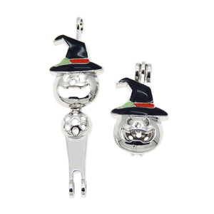 Jack O Lantern Charms Pumpkin Charms Bead Cages Aromatherapy Charms Bead Cage Charms Pumpkin Pendants Oil Diffuser Charms Halloween 12pcs