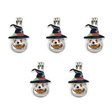 Load image into Gallery viewer, Jack O Lantern Charms Pumpkin Charms Bead Cages Aromatherapy Charms Bead Cage Charms Pumpkin Pendants Oil Diffuser Charms Halloween 12pcs