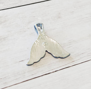 Mermaid Tail Charm Fairy Tale Charm Mermaid Pendant Rhinestone Charm Blue Mermaid Tail Whale Tail