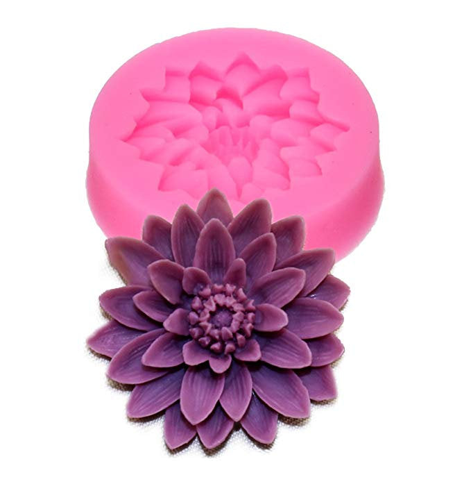Resin Jewelry Mold Pendant Mold Flower Cabochon Mold Flower Cabochon Set Resin Mold Flower Mold Floral Mold Resin Casting 2
