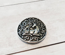 Load image into Gallery viewer, Unicorn Charm Connector Unicorn Pendant Connector Link Charm Unicorn Link Curved Circle Charm Circle Connector Antiqued Silver Fairy Tale PR