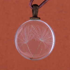 Glass Ball Charm Glass Ball Pendant Dandelion Seed Pendant Glass Globe Pendant Crystal Ball Charm Clear Ball Charm Glass Charm 27mm