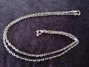 Silver Cable Chain Necklace Alloy Chain Necklace Silver Necklace Chain Necklace Making 18 Inch Chain Silver Chain Wholesale Chain