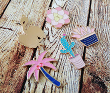 Load image into Gallery viewer, Succulent Charms Succulent Pendants Gold Enamel Charms Gold Charms Flamingo Charm Enamel Charms Set