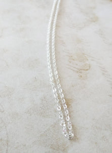 Finished Chain Necklace Wholesale Chain 18 Inch Chain Necklace Shiny Silver Chain Necklace Cable Chain Necklace Chain
